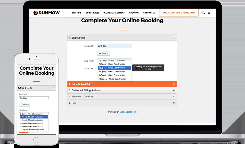 dunmow-online-skip-booking